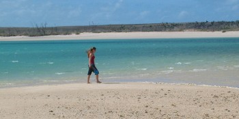 Exploring a remote beach of Northern Australia