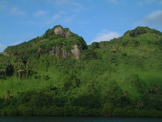 The forested cliffs of Malama Bay, Beqa, provide excellent shelter