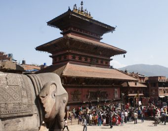 The ancient Bhaktapur main square