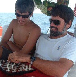 Chris & Jon battle on the chessboard