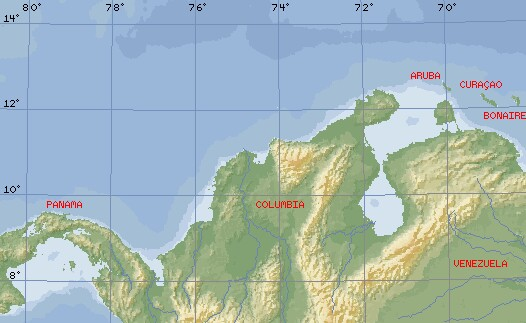 The SW Caribbean.  The San Blas Islands are just under the Panama nametag