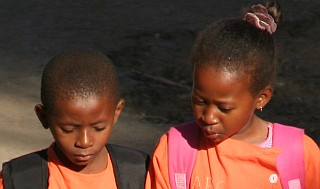 School kids in Diego Suarez, Madagascar