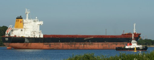 Freighter Imperial Dubrovnik enters Richards Bay, South Africa