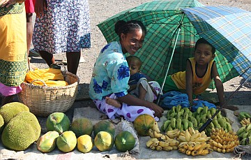 Fruit seller at the port of Ankify, mainland