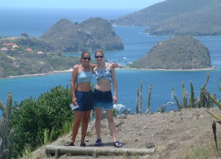 Amanda & Gina launching a navel attack on Fort Napoleon, Les Saintes