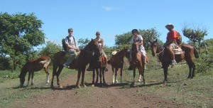 One of our rare and wonderful horseback rides