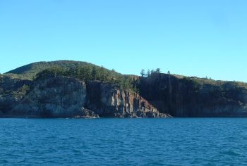 Rocky cliffs outside Island Head Creek