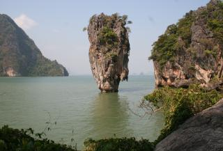 The famous rock off James Bond Island