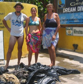 A clean-up dive counted towards marine biology & volunteer time.