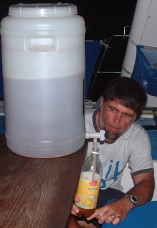 Filling bottles from the carboy