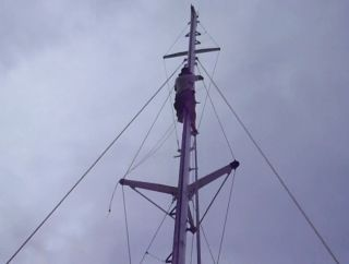 Twice up the mast within 15 minutes. But not at sea!