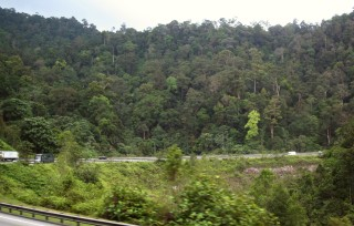 A 6-lane highway thru the forests of Malaysia