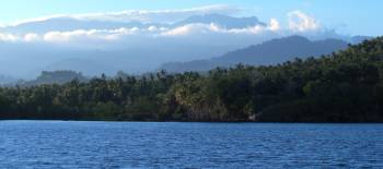 Lovely Sulawesi scenery from the Lonu anchorage