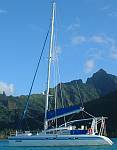 Ocelot anchored off Moorea, French Polynesia