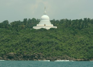 Peace Pagoda east of Galle, a gift from Japan