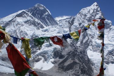 Everest and South Col from the top of Kala Pattar