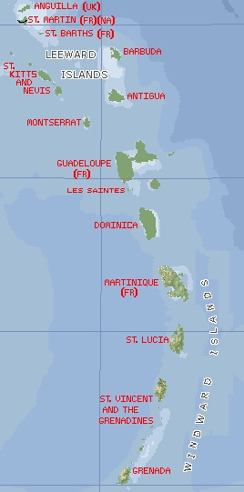 Leeward islands The windward