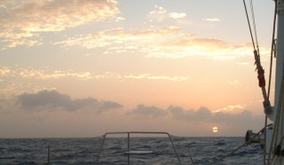 A quiet sunset in the Western Caribbean