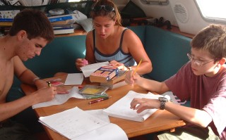 French for Chris & friend Nick (Lady Starlight), Spanish for Amanda. Studying in Tonga 2004