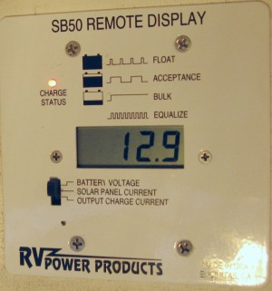 Solar controller display panel