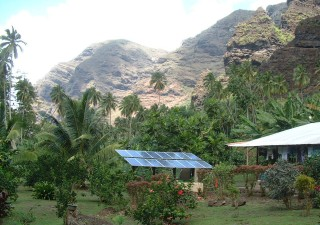 The French government subsidizes solar power systems for remote houses