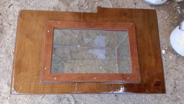 Houa's repaired floorboard, with a new frame & new epoxy