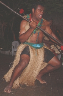 The male Fijian dances reveal their warrior heritage