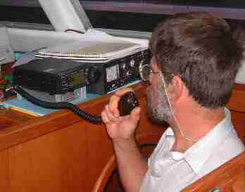 My dad using the HAM radio